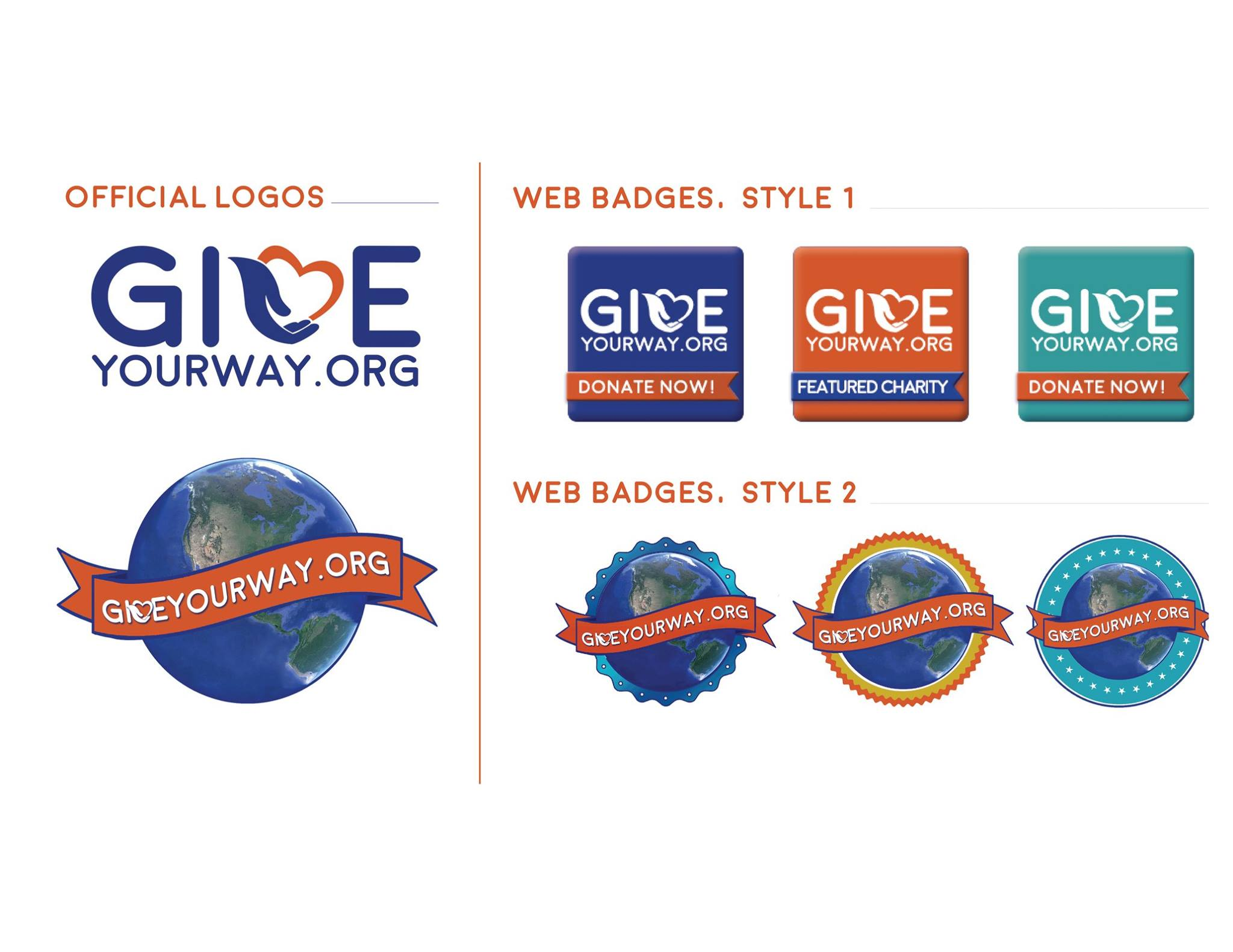 GiveYourWay Web Badges
